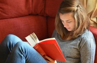 reading at home student