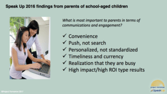 research findings from parents of school-aged children