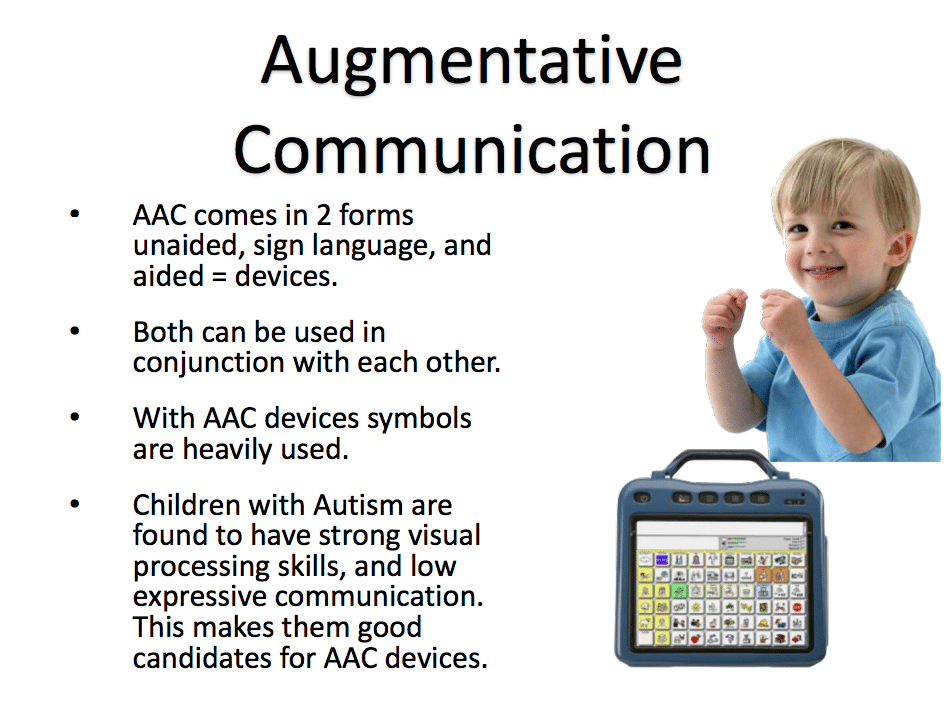 AAC communication for autism