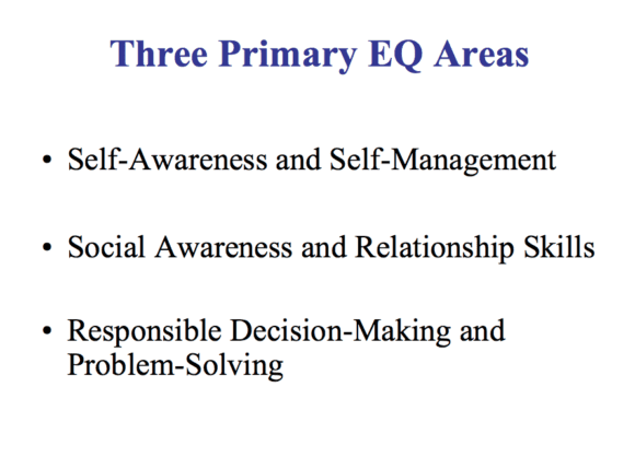 The three primary areas of emotional intelligence