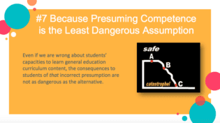 Reason why presuming competence is essential