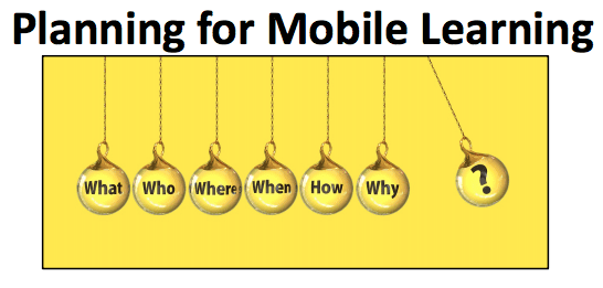 Planning for Mobile Learning